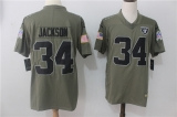 Oakland Raiders #34  Grey NFL Jersey (4)