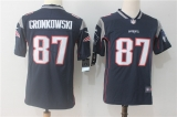 New England Patriots #87 Blue NFL Jersey (3)