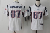 New England Patriots #87 White NFL Jersey (4)