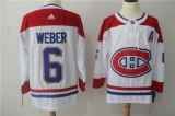 Montreal Canadiens #6 white NHL Jersey (1)