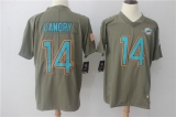 Miami Dolphins #14 Grey NHL Jersey