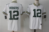 Green Bay Packers #12 White NFL Jersey (1)