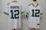 Green Bay Packers #12 White NFL Jersey (6)