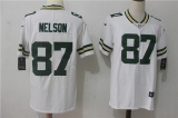 Green Bay Packers #87 White NFL Jersey (13)