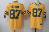 Green Bay Packers #87 Yellow NFL Jersey (14)