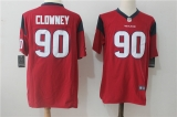 Houston Texans #90 Red NFL Jersey (14)