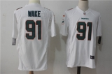 Miami Dolphins #91 White NHL Jersey (5)