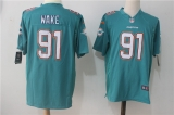 Miami Dolphins #91 Green  NHL Jersey (9)