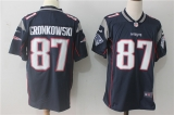 New England Patriots #87 Blue NFL Jersey (1)