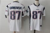 New England Patriots #87 White NFL Jersey (7)