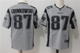 New England Patriots #87 Grey  NFL Jersey (15)