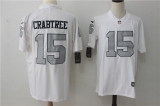 Oakland Raiders #15 White NFL Jersey (10)