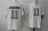 Oakland Raiders #11 White NFL Jersey (18)
