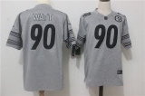 Pittsburgh Steelers #90 Grey NFL Jerseys (50)