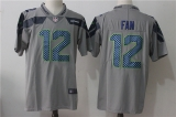 Seattle Seahawks #12 Grey NFL Jersey (5)