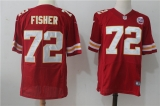 Kansas City Chiefs #72 Red NFL Jersey (12)
