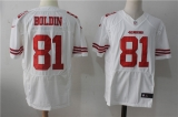 San Francisco 49ers #81 White NFL Jersey (22)