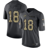 Nike Rams #18 Cooper Kupp Black Men\'s Stitched NFL Limited 2016 Salute to Service Jersey