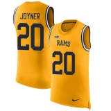 Nike Rams #20 Lamarcus Joyner Gold Men\'s Stitched NFL Limited Rush Tank Top Jersey