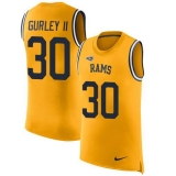 Nike Rams #30 Todd Gurley II Gold Men\'s Stitched NFL Limited Rush Tank Top Jersey