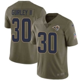 Nike Rams #30 Todd Gurley II Olive Men\'s Stitched NFL Limited 2017 Salute to Service Jersey