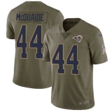 Nike Rams #44 Jacob McQuaide Olive Men\'s Stitched NFL Limited 2017 Salute to Service Jersey