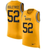Nike Rams #52 Alec Ogletree Gold Men\'s Stitched NFL Limited Rush Tank Top Jersey