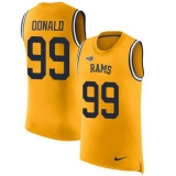 Nike Rams #99 Aaron Donald Gold Men\'s Stitched NFL Limited Rush Tank Top Jersey
