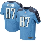 Nike Titans #87 Eric Decker Light Blue Team Color Men\'s Stitched NFL Elite Jersey