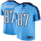 Nike Titans #87 Eric Decker Light Blue Team Color Men\'s Stitched NFL Vapor Untouchable Limited Jersey