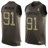 Nike Titans #91 Derrick Morgan Green Men\'s Stitched NFL Limited Salute To Service Tank Top Jersey