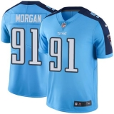 Nike Titans #91 Derrick Morgan Light Blue Men\'s Stitched NFL Color Rush Limited Jersey