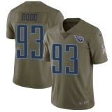 Nike Titans #93 Kevin Dodd Olive Men\'s Stitched NFL Limited 2017 Salute to Service Jersey