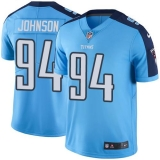 Nike Titans #94 Austin Johnson Light Blue Team Color Men\'s Stitched NFL Vapor Untouchable Limited Jersey