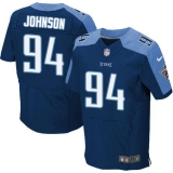 Nike Titans #94 Austin Johnson Navy Blue Alternate Men\'s Stitched NFL Elite Jersey
