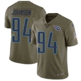 Nike Titans #94 Austin Johnson Olive Men\'s Stitched NFL Limited 2017 Salute to Service Jersey