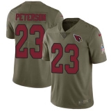 Nike Cardinals #23 Adrian Peterson Olive Men\'s Stitched NFL Limited 2017 Salute to Service Jersey