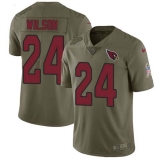 Nike Cardinals #24 Adrian Wilson Olive Men\'s Stitched NFL Limited 2017 Salute to Service Jersey