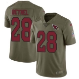 Nike Cardinals #28 Justin Bethel Olive Men\'s Stitched NFL Limited 2017 Salute to Service Jersey