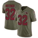 Nike Cardinals #32 Tyrann Mathieu Olive Men\'s Stitched NFL Limited 2017 Salute to Service Jersey