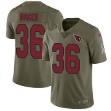 Nike Cardinals #36 Budda Baker Olive Men\'s Stitched NFL Limited 2017 Salute to Service Jersey