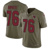 Nike Cardinals #76 Mike Iupati Olive Men\'s Stitched NFL Limited 2017 Salute to Service Jersey