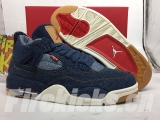 (Right version)Authentic Levis x Air Jordan 4