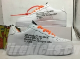 "Authentic Nike OFF WHITE X Air Force 1 ""Custom""Men Shoes -JB"