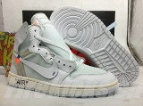 "(Old Version)Authentic OFF-WHITE x Air Jordan 1 GS ""White Grey"""
