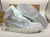 Perfect OFF-WHITE x Air Jordan 1 Men Shoes -SY (46)