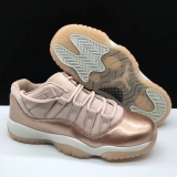 "Super Max Perfect Air Jordan 11 Low ""Rose Gold"" GS (98%Authenic)(with original carbon fiber)Men Shoes"