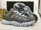 "Super Max Perfect  Air Jordan 11 Low ""Barons""Men Shoes"