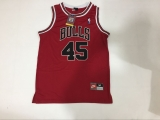 Chicago Bulls #45 Jordan Stitched Red NBA Jersey