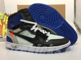 Super Max Perfect OFF-WHITE x Air Jordan 1 Men Shoes -ZL (1)